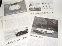 JAGUAR  E Type  set of 4x original reproductions of features from ROAD & TRACK